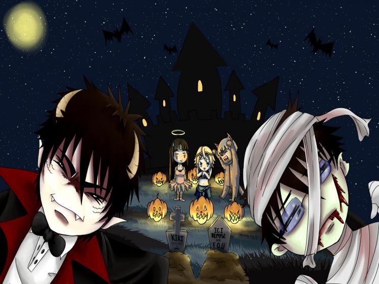 Fonds d'écran Art - Numérique Fêtes - Halloween hutatsu bettenshi fête aussi halloween