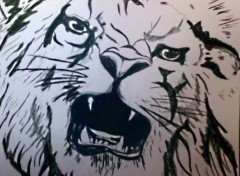 Art - Pencil Mon premier dessin de lion tatouage