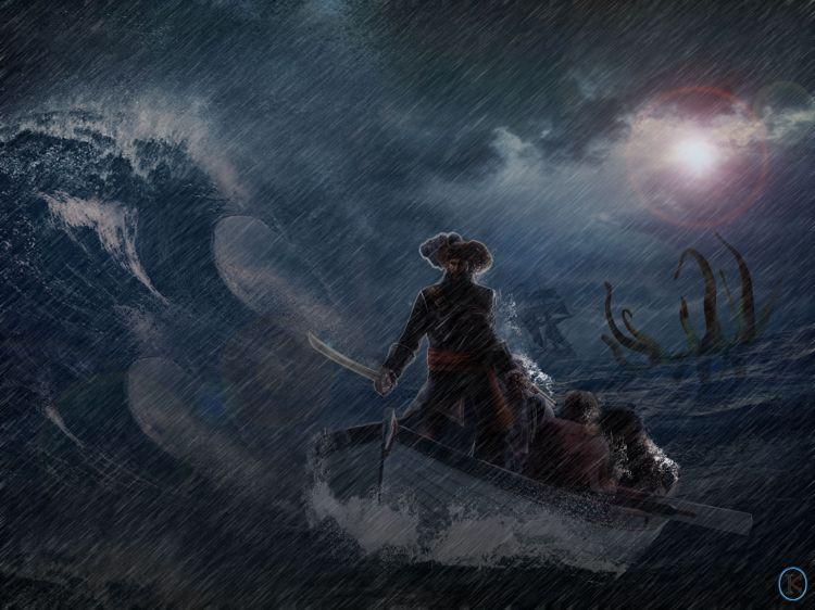 Fonds d'écran Fantasy et Science Fiction Pirates Pirate un jour, Pirate toujours