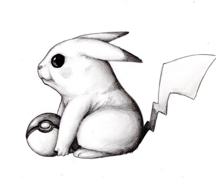Fonds d'écran Art - Crayon Manga - Pokémon Encore un p'tit Pikachu..