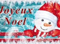 Art - Numérique Joyeux noel (bonhomme de neige)