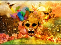 Digital Art Le masque d'or