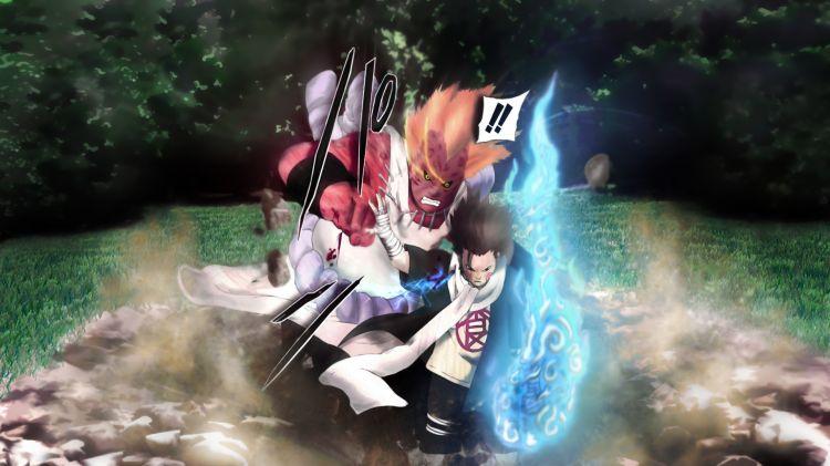 Fonds d'écran Manga Naruto Choji vs Jirobo wall