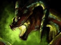 Digital Art Dragon noir2