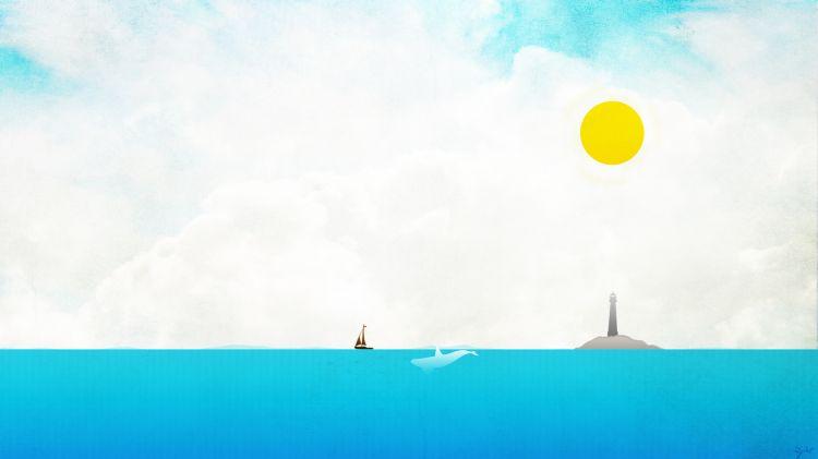 Wallpapers Digital Art Nature - Oceans, Beaches Beautiful day at sea