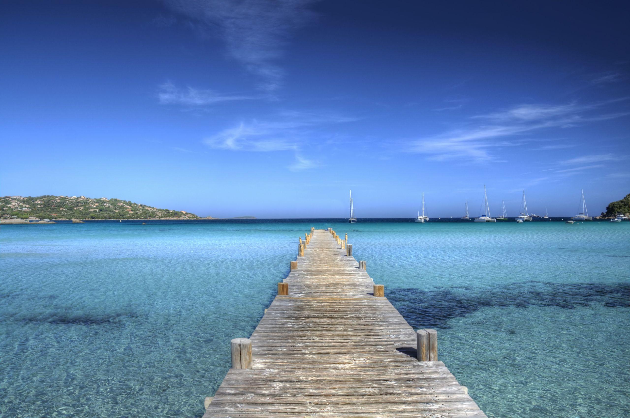 Fonds d'écran Nature Iles Paradisiaques Plage de Santa Giulia - Corse du Sud