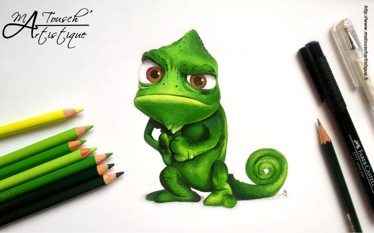 Fonds d'écran Art - Crayon Dessins animés - Disney Pascal (Raiponce)