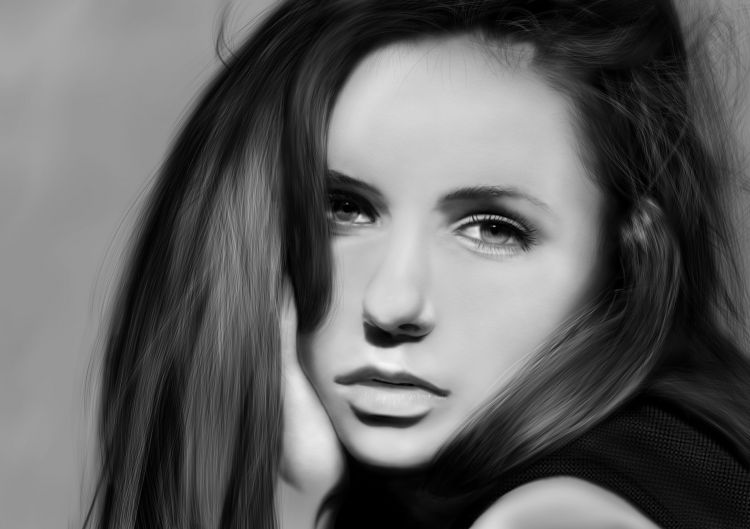 Wallpapers Digital Art Portraits Nina Dobrev by NicoW