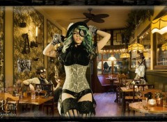 Fantasy and Science Fiction Steampunk Bar