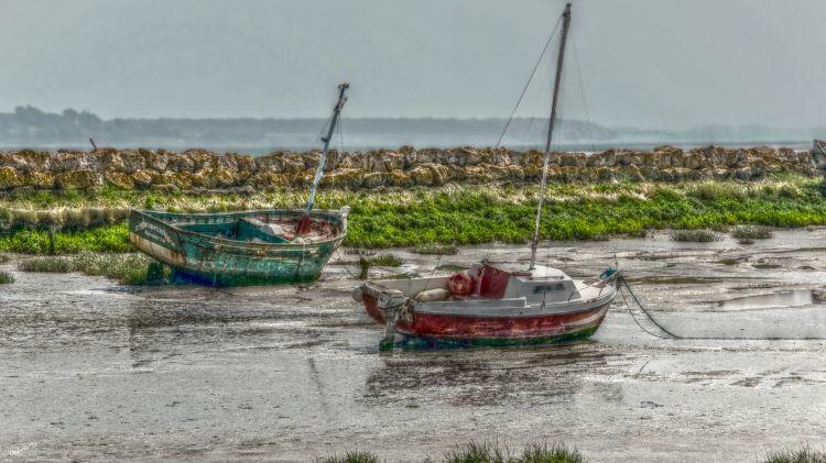Wallpapers Boats Wrecks marée basse