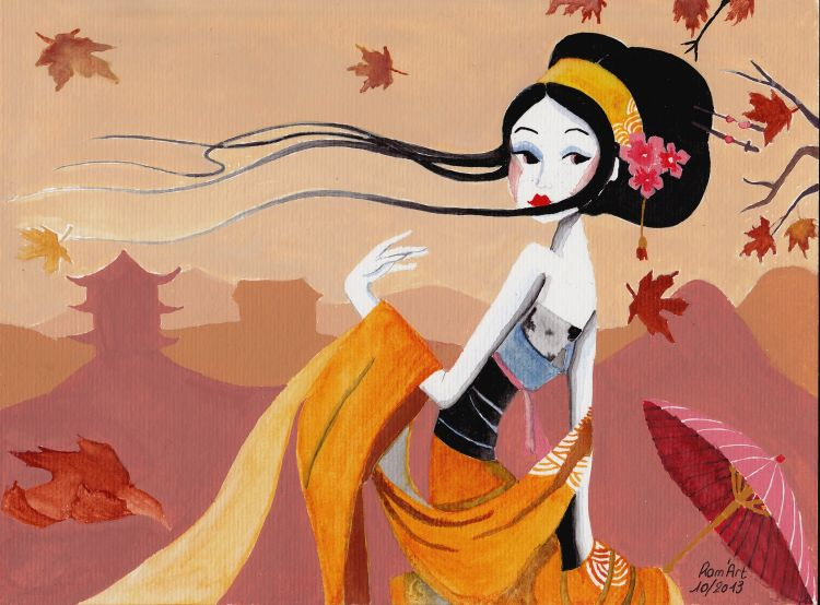 Wallpapers Art - Painting Women - Femininity Wallpaper N°370554