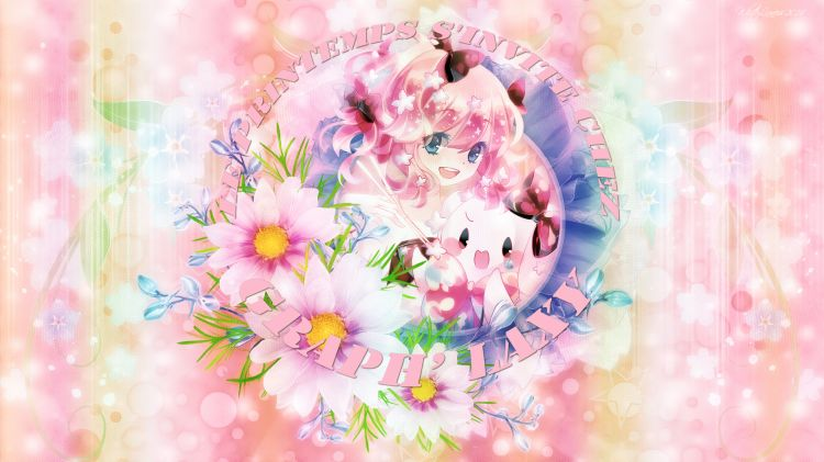 Wallpapers Manga Miscellaneous - Girls Spring Theme