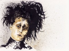 Art - Painting Edward Scissorhands