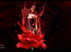 Digital Art Rose Lace