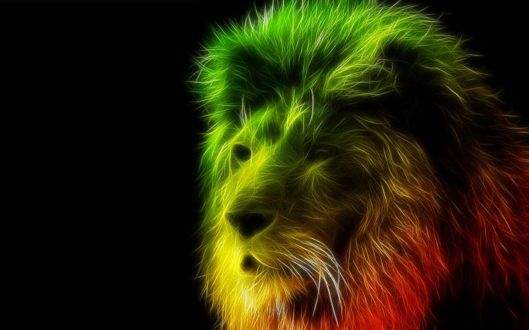 Fonds Décran Art Numérique Fonds Décran Animaux Lion