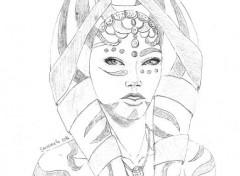 Art - Pencil Visage d'une Togruta