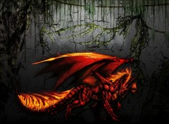 Fantasy et Science Fiction dragon fire red