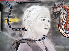 Art - Crayon Mother of Dragons: Game of Thrones