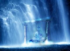 Art - Numérique cascade bouddha