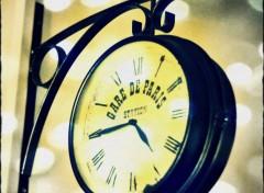 Objets horloge gare de paris
