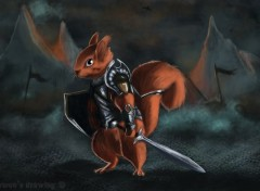 Fantasy and Science Fiction warrior squirrel
