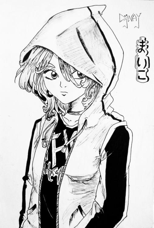 Fonds d'écran Art - Crayon Manga - Divers black & white manga
