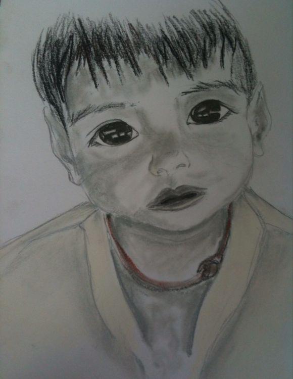 Fonds d'écran Art - Crayon Portraits Wallpaper N°379863