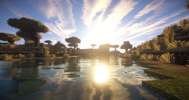 Wallpapers Video Games Minecraft Screenshots d'un magnifique paysage sur Minecraft