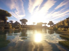 Video Games Screenshots d'un magnifique paysage sur Minecraft