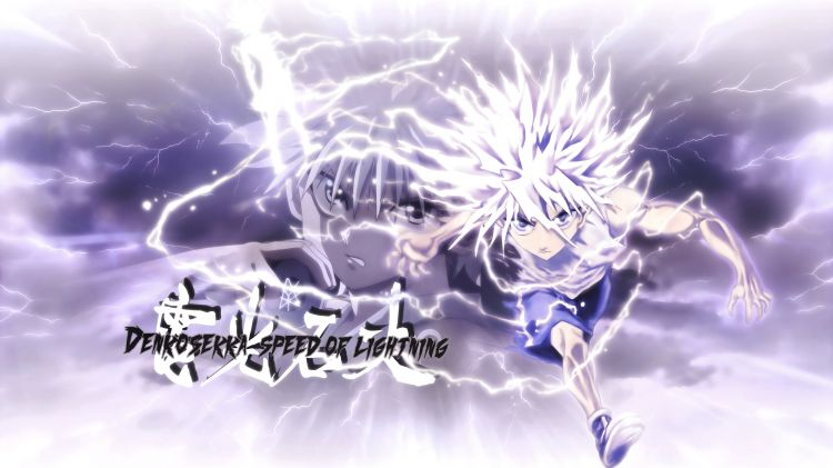 Fonds d'écran Manga Hunter x Hunter Killua speed of lightning