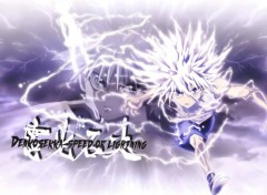 Manga Killua speed of lightning