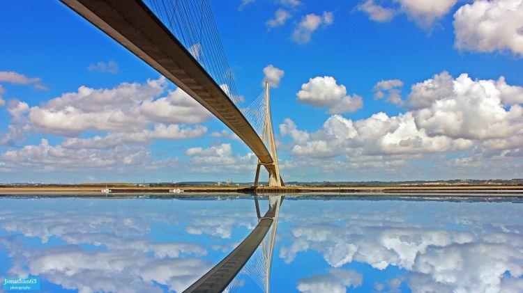 Fonds d'écran Constructions et architecture Ponts - Aqueducs Pont de Normandie (76)