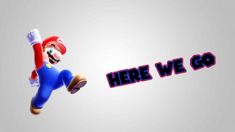 Fonds d'écran Jeux Vidéo Mario Mario Here we go