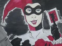Art - Crayon Harley Quinn