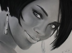 Art - Crayon Rihanna Pastels and charcoals