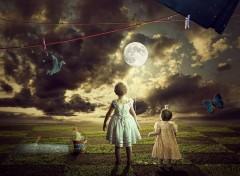 Fonds d'écran Art - Numérique she take the moon