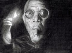 Art - Crayon Morgan Freeman