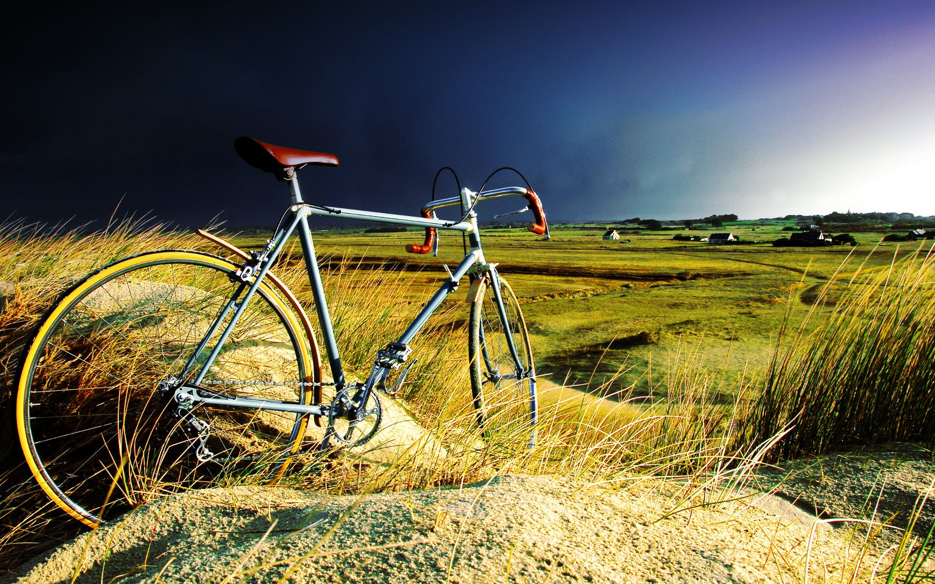 Wallpapers Various transports Bikes bicyclette dans la tempête