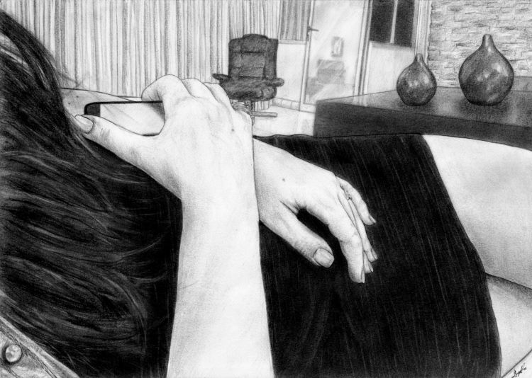 Fonds d'écran Art - Crayon Femmes - Féminité Mains