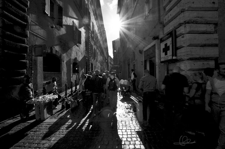 Wallpapers Constructions and architecture Streets Roma - Via Giustiniani à 17:30 - 1er mai 2015