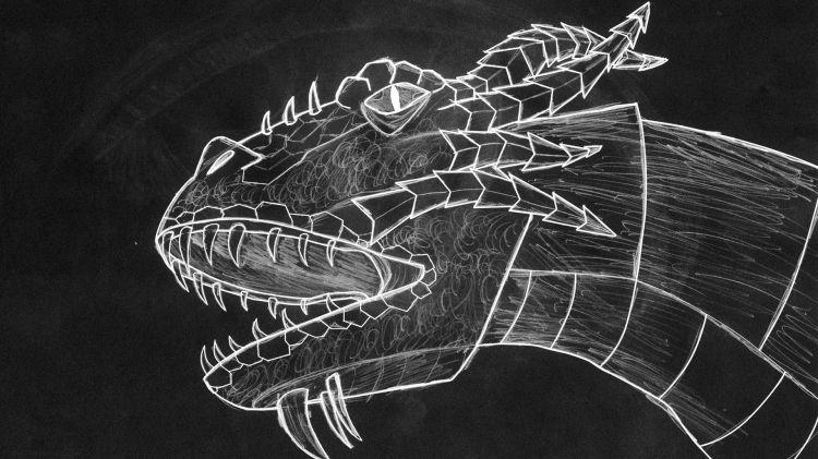 Fonds d'écran Art - Crayon Fantasy - Dragons dragon chalk