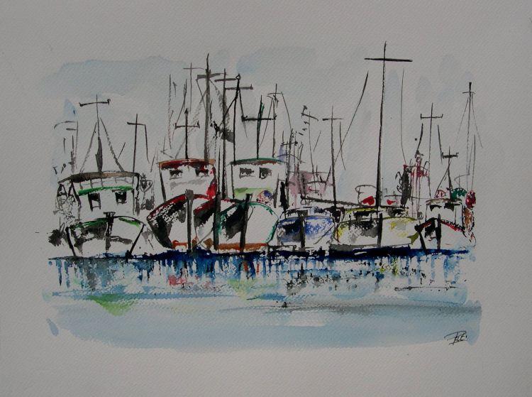 Fonds d'écran Art - Peinture Marine et port de pêche Pat29730.free.fr
