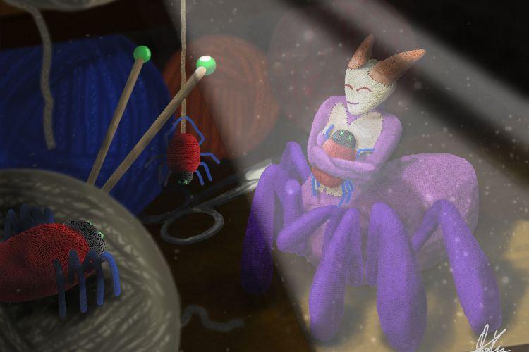 Fonds d'écran Jeux Vidéo SMITE Woolen Arachne Skin Concept