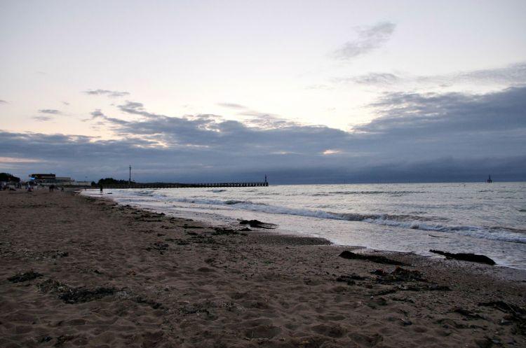 Fonds d'écran Nature Mers - Océans - Plages tombée du jour en bord de mer