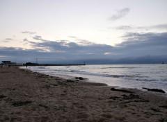 Nature tombée du jour en bord de mer