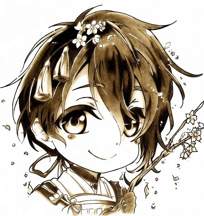 Wallpapers Art - Pencil Manga - Sakura Sakura's chibi boy