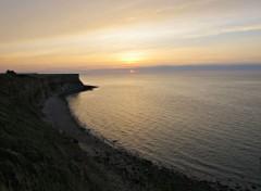 Nature coucher de soleil sur la mer
