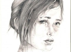 Art - Pencil Ellie The Last of Us
