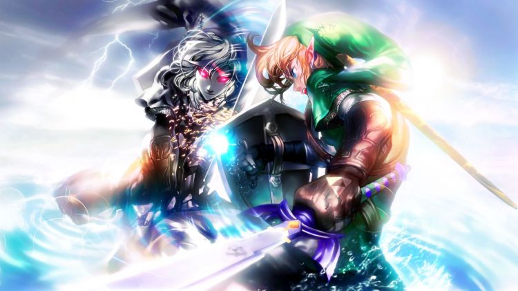 Wallpapers Video Games Zelda Link vs Dark Link