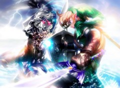 Video Games Link vs Dark Link